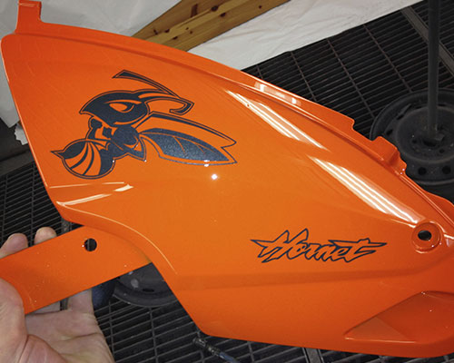 Peintures customs motos